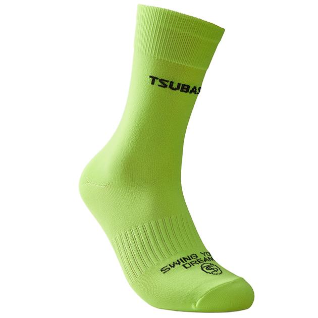 ASA螢光黃<br>涼感彈力機能襪 1